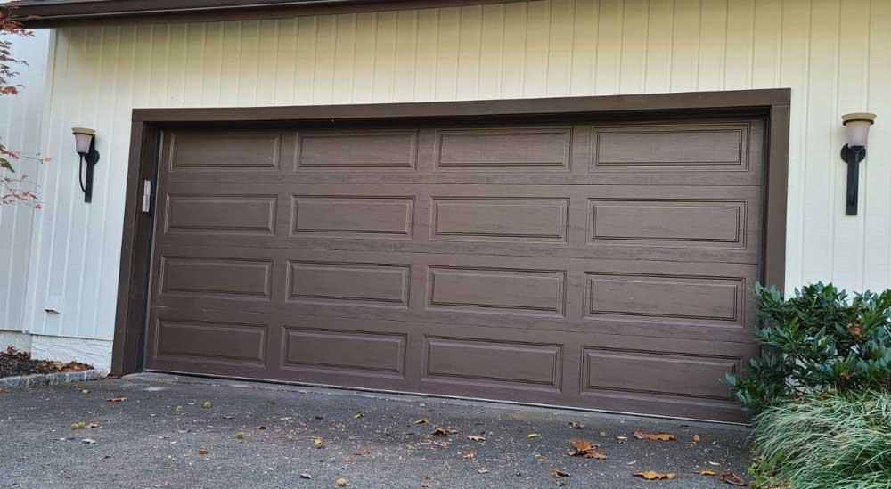 before garage door project